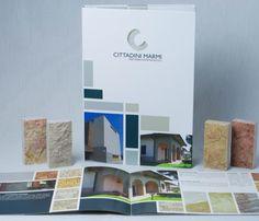 Realizzazione per Cittadini #Marmi del #Campionario e della #Brochure.  #Packaging