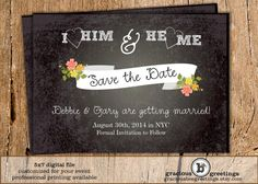 Save the Date Announcement  Digital by GraciousBeeGreetings, $14.00
