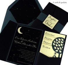 For the lover of sweet summer nights, this invitation features a Yellow, Jade,and Ebony color schemewith the ambiance of an enchanted forest. Want This Invitation? Our print shop would love to se...