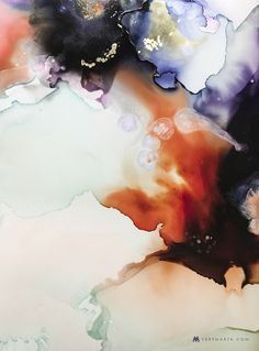 Abstract Art, Watercolor, Textiles by Marta Spendowska