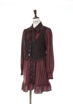 axes femme Dress One piece  wine‐red/kawaii lolita /MORI GIRL Japanese Brand