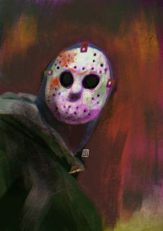 Happy Friday 13th on Behance Ipad Pro, Happy Friday, Illustration, Tv Series, Halloween Face Makeup, Behance, Painting, Watch, Film