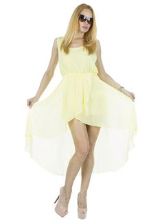 Rochie Dama Vapo  Rochie dama din material usor, ce cade lejer pe corp. Design inspirat ce poate fi purtat cu usurinta in sezonul cald. O rochie superba in care va veti simti minunat.     Latime talie: 35cm  Lungime fata: 70cm  Lungime totala: 119cm  Compozitie: 100%Poliester High Low, Dresses, Design, Fashion, Vestidos, Moda, Fashion Styles, Dress