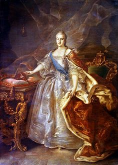 """Portrait of Catherine II"" by Ivan Argunov (1762)"