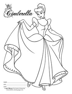 22 Best Cinderella Coloring Pages Images Cinderella Coloring Pages