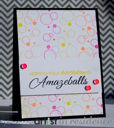 ...{Sylvias Stamping Place}...: Amazeballs Birthday Card (AIR Project)