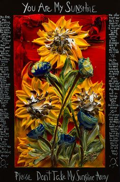24x36 You Are My Sunshine By: Justin Gaffrey.