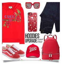 """In My Hood: Cozy Hoodies"" by samra-bv ❤ liked on Polyvore featuring Gucci, Yves Saint Laurent, MICHAEL Michael Kors, Dolce&Gabbana, Casetify and Vans"