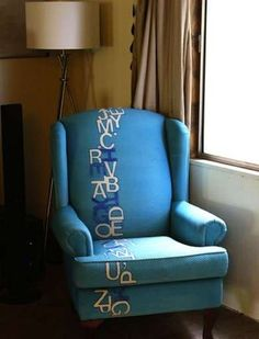 Painted Chair with Typography Flair