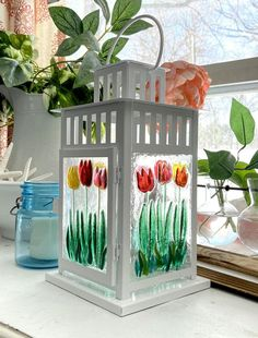 Stained Glass Suncatchers, Fused Glass Art, Tea Light Candles, Tea Lights, Glass Fusion Ideas, Glass Fusing Projects, Paper Quilling Designs, Glass Artwork, Glass Flowers