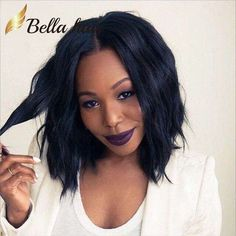 Wholesale Popular Wigs Bob style Silky Straight Natural Black Wig 100% Human Hair Wigs Short Cut Lace Wigs Bella Hair, Free shipping, $90.06/Piece | DHgate Mobile