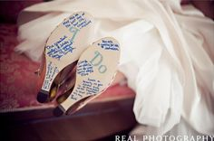 Sweet Messages for the soles of your Shoes