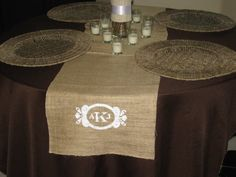 Personalized Burlap Wedding Table Runner 14 x 68 $30