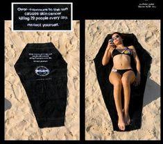 Promotional ad for skin cancer awareness is brutally honest.