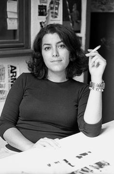 Marjane Satrapi (Persian: مرجان ساتراپی) (born 22 November is an Iranian-born French graphic novelist, illustrator, film director, and children's book author. Michel De Montaigne, Film D'animation, Poster S, Portraits, Film Director, Women In History, Animation Film, Belle Photo, Beautiful People