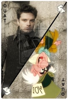 Once Upon A Time Mad Hatter card. This is pretty cool! ABC/Disney needs to contact this artist, pronto to do more!