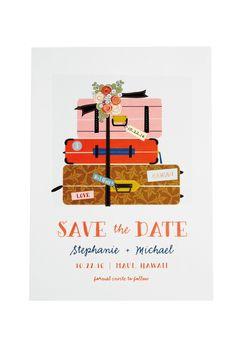 Go that extra mile with destination-themed stationery, as seen on BridesMagazine.co.uk (BridesMagazine.co.uk)