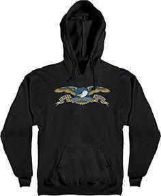 048a61c1977 Anti Hero Skateboards Eagle Black Men s Hooded Sweatshirt - Small
