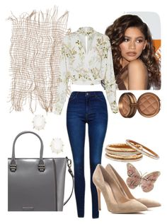 """""""Untitled #139"""" by styledbystephxx on Polyvore featuring Coleman, Charles Jourdan, Topshop, Gianvito Rossi, Kendra Scott and Nest"""