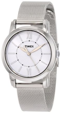 #Cheap #Watch , Timex Women's T2N679 Elevated Classics Dress Uptown Chic White Dial Mesh Bracelet Watch...$35.99