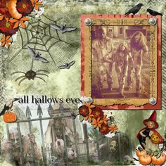 My layout for week 3 LOA2016   This is a picture of my brother and his family enjoying Halloween. kit :  Hallows Night by Berna's Playground, Christine Art, Jen Maddocks Designs and The Urban Fairy https://www.digitalscrapbookingstudio.com/digital-art/kits/hallows-night/