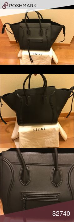 Celine Phantom bag   Black  suede interior Almost Brand New   purchased for  a few photo shoots 00baf383b611f