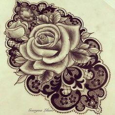 Tattoos by Georgina. cover up tat with blue to purple rose Lace Tattoo Design, Free Tattoo Designs, Henna Tattoo Designs, Tattoo Ideas, Shoulder Tattoos, Wrist Tattoos, Body Art Tattoos, Sleeve Tattoos, Pretty Tattoos