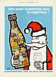 Vintage Schwepp's Christmas Advertisement, 1960