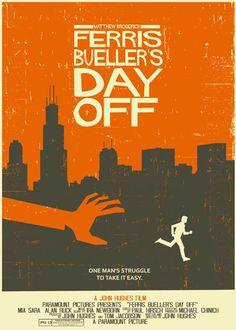 """""""Ferris Bueller's Day Off""""  http://www.etsy.com/listing/101229774/ferris-buellers-day-off-vintage-style"""
