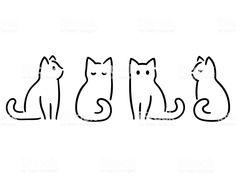 Drawing set of minimalist cats. Doodles in abstract hand-drawn … – Katzen Ide… – Katzenbilder Drawing set of minimalist cats. Doodles in abstract hand-drawn … – Katzen Ide… Drawing set of minimalist cats. Doodles in abstract hand-drawn … – Katzen Ideen – Gato Doodle, Doodle Drawings, Cute Drawings, Simple Doodles Drawings, Quick Easy Drawings, Easy Designs To Draw, Minimal Drawings, Zentangle Drawings, Drawing Hands