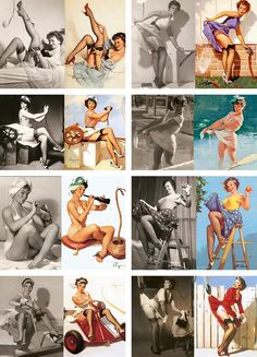 How pin up artist Gil Elvgren got models to pose for his famous images