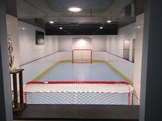 D1 Photo Gallery - Basement Hockey Rink Hockey Shot, Ice Hockey, Sports Theme Basement, Backyard Ice Rink, Soccer Room, Hockey Bedroom, Hockey Decor, Hockey Boards, Hockey Training