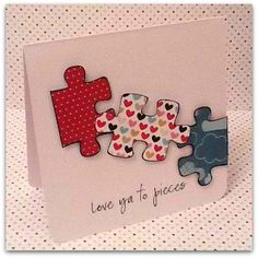 diy card....never have all the puzzle pieces anyway...