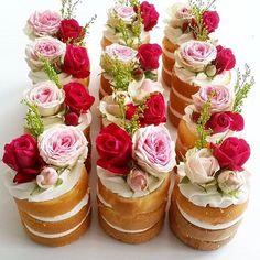 Mini naked cakes  @leyaracakes #inspiremeweddings #leyaracakes #pretty #mini #nakedcakes #LOVE by inspiremeweddings