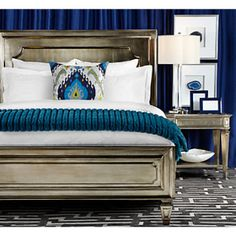 Palais Champagne Bedroom Furniture  Queen Bed $670 Cal King/ E. King Bed $790