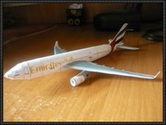 Emirates Airline‎ Airbus A330-200 Free Airplane Paper Model Download - http://www.papercraftsquare.com/emirates-airline%e2%80%8e-airbus-a330-200-free-airplane-paper-model-download.html