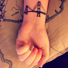 Golden Gate Bridge tattoo.