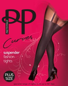 df9132cecda Pretty Polly Curves Suspender Fashion Tights are fake suspender style hose  and are tights or pantyhose
