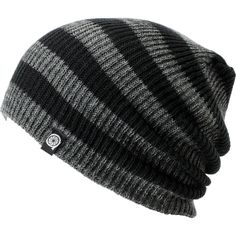 Aperture Estebon Grey & Black Stripe Beanie