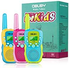 Buy Obuby Walkie Talkies for Kids, 22 Channels 2 Way Radio Kid Gift Toy 3 KMs Long Range with Backlit LCD Flashlight Best Gifts Toys for Boys and Girls to Outside Adventure , Camping (Blue&Pink&Yellow) Outdoor Toys For Toddlers, Best Outdoor Toys, Best Gifts For Boys, Gifts For Girls, Radios, Toddler Toys, Kids Toys, Channel 2, Teen Girl Gifts
