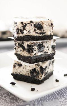 Oreo Cheesecake Bars #oreo #cheesecake #dessert