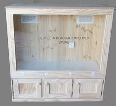 Reptile Snake Lizard Python Enclosure Tank Large Deluxe - Anita Smith Home Reptile Habitat, Reptile House, Reptile Room, Reptile Cage, Lizard Cage, Snake Cages, Bearded Dragon Enclosure, Bearded Dragon Cage, Lizard Terrarium