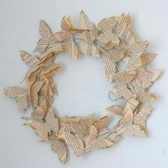 book page butterfly wreath by rachael