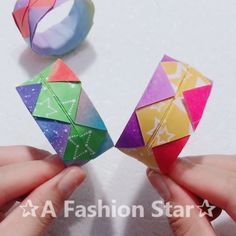 Origami is also an art, how to make a bookmark with paper? Or how to fold a cool bracelet with paper, I will teach you. Paper Folding Crafts, Paper Crafts Origami, Paper Crafts For Kids, Diy Arts And Crafts, Creative Crafts, Fabric Crafts, 5 Min Crafts, Diy Crafts Videos, Fun Crafts