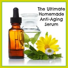 ultimate homemade anti aging serum3 Tsp Avocado Oil 1 Tsp Vitamin E Oil or 3 Vitamin E Gel Caplets (Natural preservative!) 1 Tsp Rosehip Seed Oil 3 drops Carrot Seed Oil 3 Drops Frankincense Essential Oil 5 drops Geranium Essential Oil  Mix everything together and put in a dark airtight container, preferably a glass container with a dropper for easy use) and shake well.  Keep in a cool, dry place for a week for all the ingredients to mix well and apply everyday before bed. Source:
