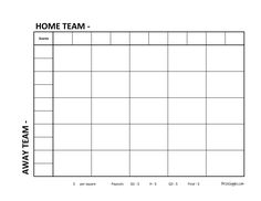 Super Bowl Squares Printable Version Here Http