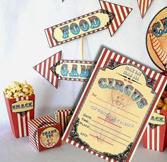 Vintage Circus Carnival Printable Party Kit by PartyEverAfter