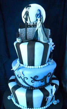 Beautiful corpse bride cake