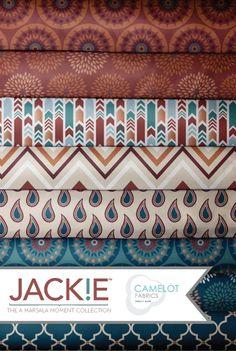 Jackie Mcfee : A Marsala Moment Fabric Collection