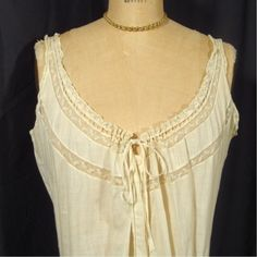 Victorian  White Lingerie, Long Chemise.SALE, .Excellent Size and Condition. Number 2 piece from Trousseau...1800s, Antique, Vintage